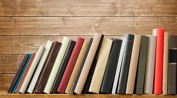 bigstock Old books on a wooden shelf N 46537213