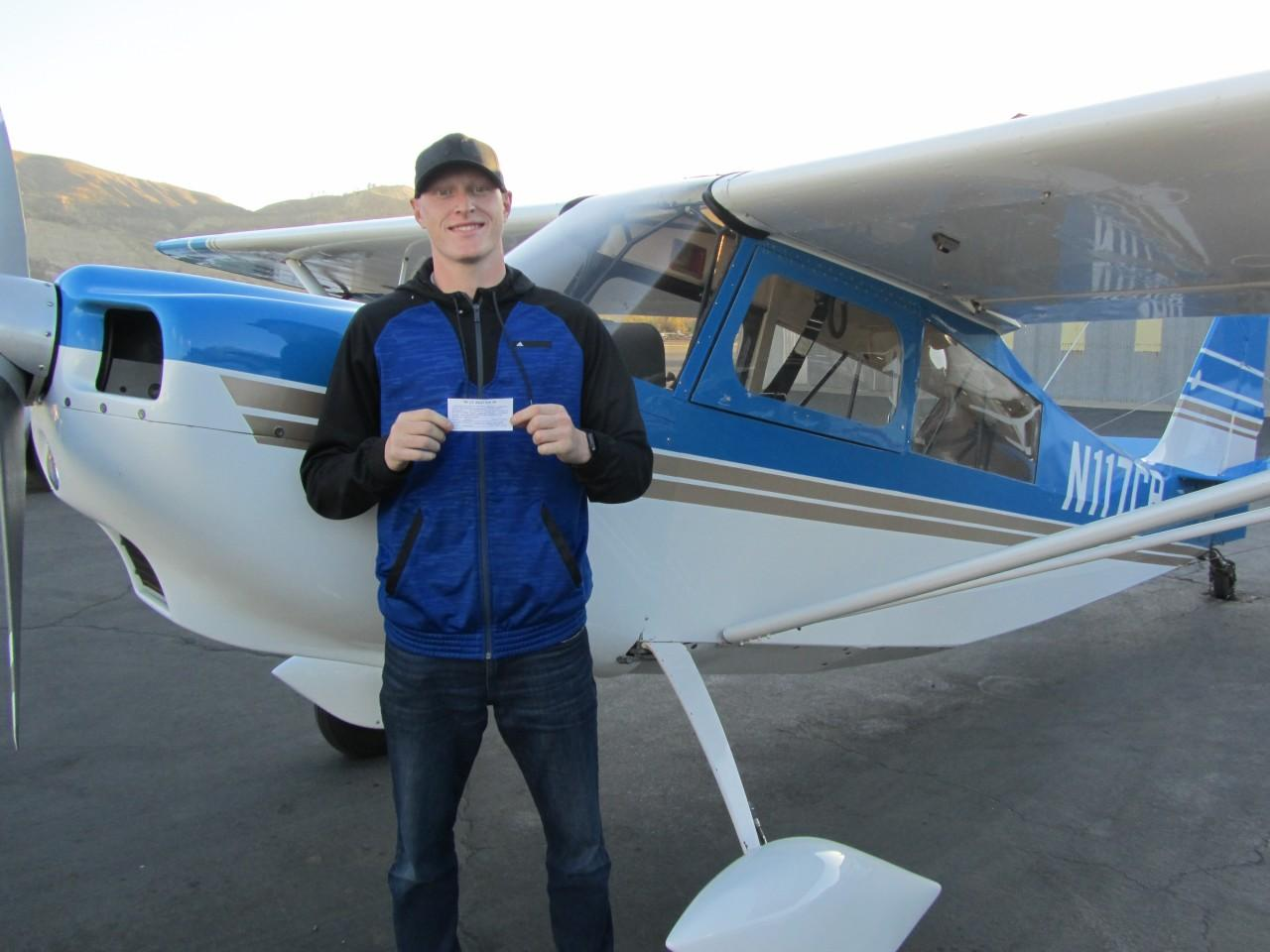 Tailwheel Endorsement - Devin Vainer!