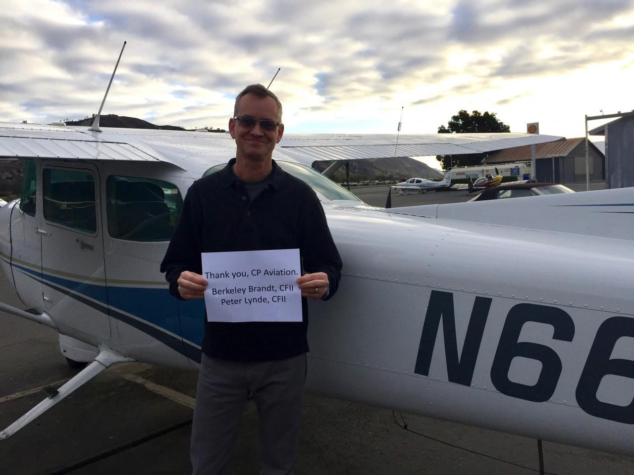 Instrument Rating - Brent Wright!