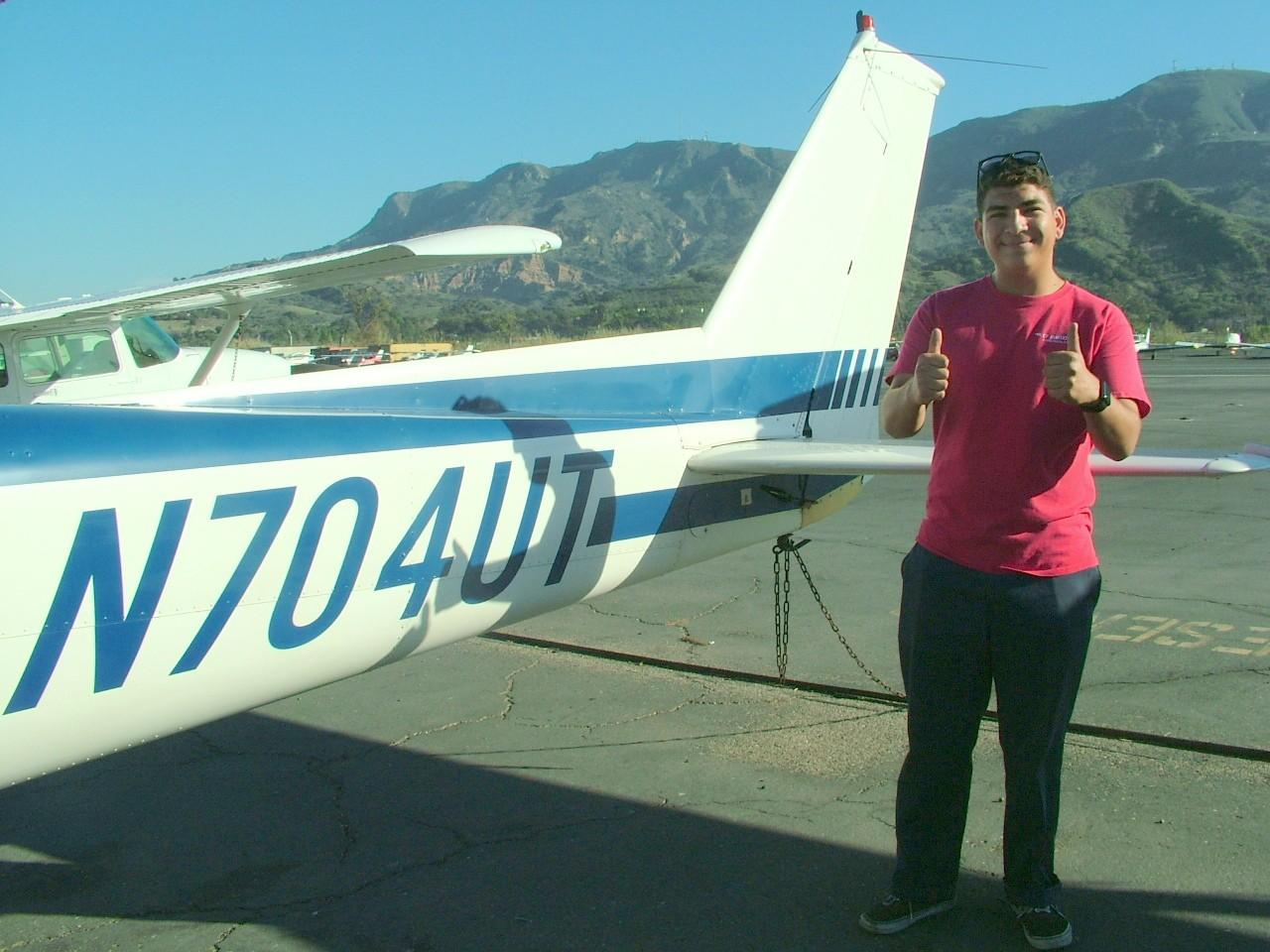 First Solo at CP Aviation - Nico Gomez!