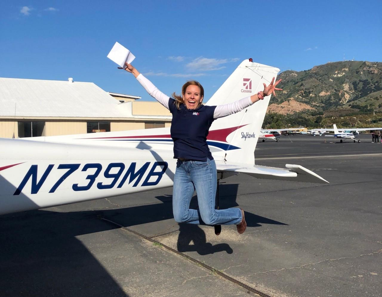 Certified Flight Instructor - Susan Bell!